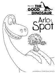 coloring pages spot the dinosaur coloring pages arlo and spot the