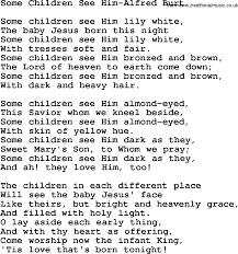 christian childrens song some children see him alfred burt lyrics