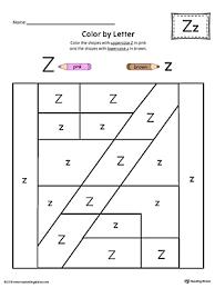 uppercase letter z color by letter worksheet letter worksheets