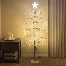 best choice products 5ft 144l led fir snow tree lights w star tree to