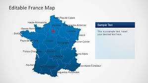 Alsace France Map by Editable France Map Template For Powerpoint Slidemodel