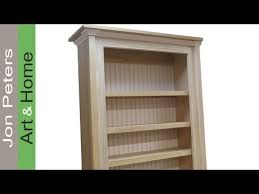 Pine Bookshelf Woodworking Plans by How To Build A Bookcase Bookshelf Cabinet Youtube
