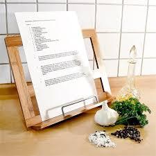 lutrin sur pied en bois relaxdays porte recettes support pour livre de cuisine hxlxp 24