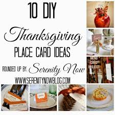 serenity now 10 diy thanksgiving place card ideas