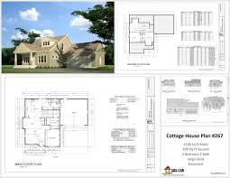 sample floor plans for houses h267 cottage house plans in autocad dwg and pdf sds plans