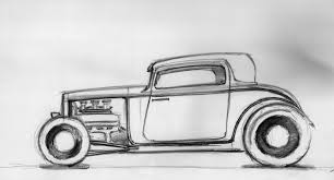 cartoon sports car side view how to draw a car rod sketch 18 08 2014 youtube