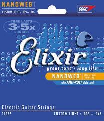elixir 6 string electric guitar strings custom light 9 46
