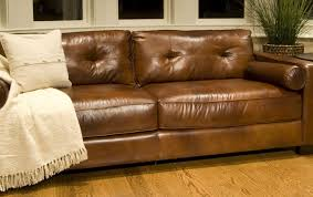 rustic leather sofa distressed brown top grain leather sofa