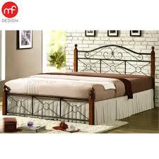 Mf Design Furniture Mf Design Siliy Queen Size Bed Metal Wood Lazada Malaysia