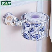 aliexpress com buy flg luxury chrome porcelain toilet paper