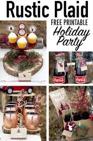 rustic plaid holiday free printalbes includes great christmas