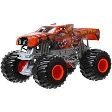 monster truck jam toys wheels monster jam 1 24 brutus die cast vehicle walmart com