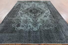 Brown And Gray Area Rug Unique 8x12 Blue Gray Overdyed Wool Hand Knotted Tabriz Oriental