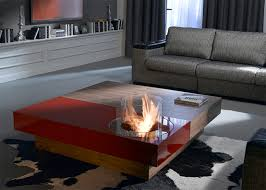 Indoor Fire Pit Coffee Table Coffee Tables With Built In Fireplace Digsdigs