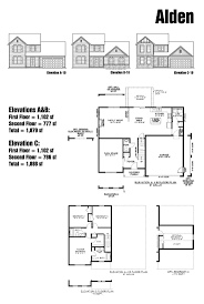 143 best floor plans images on pinterest floor plans home plans the alden floor plan elevations a b first floor 1 102 sf second floor