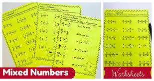 mixed numbers improper fractions u003e nastaran u0027s resources