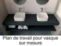 salle de bain plan de travail vasques plan vasque plan de travail sur mesure en résine pour