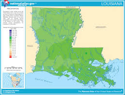 louisiana geographical map map of louisiana lakes streams and rivers