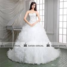 2015 gorgeous ball gown church wedding dresses white luxury real