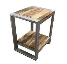 distressed wood end table interior reclaimed wood end table emerald chandler reclaimed wood