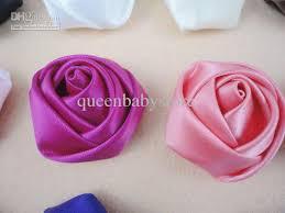 satin roses trial order 1 5 mini satin roses flowers clip rosette flowers for