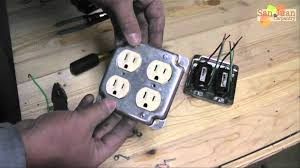 outlet receptacle wire up how to youtube