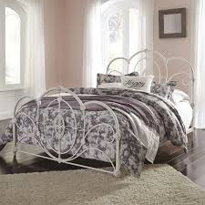 Metal Bedroom Furniture Ashley Furniture Loriday Queen Metal Bed In Aged White Local
