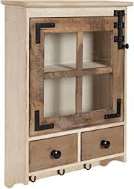 oak kitchen wall cabinet with glass doors kate and laurel hutchins farmhouse wood wall cabinet with window pane glass door and 2 storage drawers rustic and white