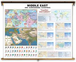 The Middle East Map by Universal Middle East Map Conflict And Culture