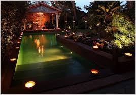 incredible outdoor pool lighting effects for elegant backyard with
