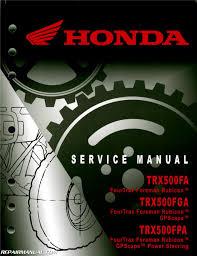 honda trx500fa fga fourtrax foreman rubicon gpscape atv service