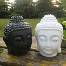 buddha head aromatic oil burner ceramic aromatherapy lamp candle