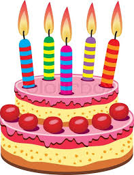 birthday cake vector birthday cake with burning candles stock vector colourbox