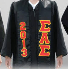 custom stoles the greekshop lettered satin graduation stoles