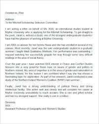 ideas of sample recommendation letter for student from advisor
