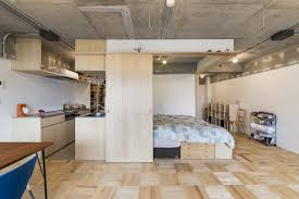 Japanese Interior Design For Small Spaces Small Japanese Apartment Splits Up Space With Partitions