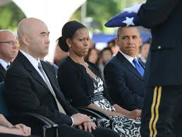 Barack Obama Flag Barack Obama In President Obama Attends Funeral Service For Sen