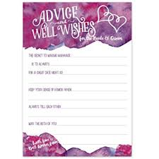 Advice Cards For The Bride Amazon Com Purple Magenta Watercolor Wedding Advice Cards