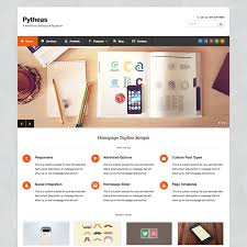 pytheas free responsive corporate portfolio wordpress theme