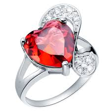red jewelry rings images Red purple blue heart cz diamond rings for woman female wedding jpg