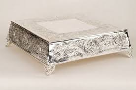 silver wedding cake stand wedding cake stand hire silver plated square