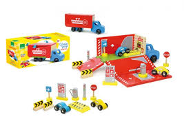 truck car garage by vilac children car racing wooden toys