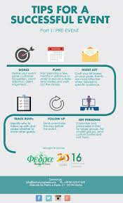 tips for a successful event pre event infographic fedra