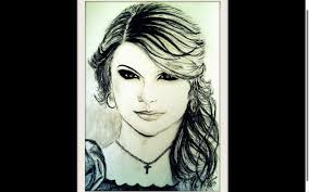 taylor swift pencil sketch youtube