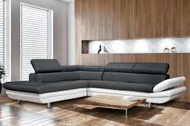 canap design noir et blanc canap design blanc simple plaire canap cuir design italien a propos