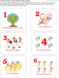 french halloween printables the twelve days of christmas activities sing along printables