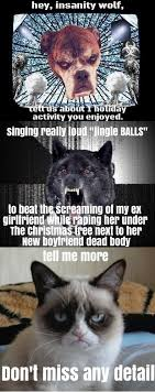 Insanity Wolf Meme - insanity wolf meme christmas