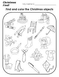 preschool christmas worksheets printables