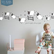 stickers mouton chambre bébé attractive stickers mouton chambre bebe 13 aliexpress com