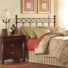 fashion bed group argyle queen size headboard with round finial